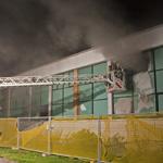 Wederom brand in leegstaand Damiate College in Haarlem