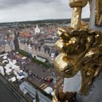 Op de Grote of St. Bavokerk met de open monumenten dagen