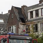 Zolder buren in de brand door werkzaamheden aan gevel Lorentzkad