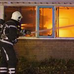 Zeer grote brand kunststof kozijnen fabriek Taanderstraat Katwij