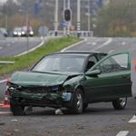 Forse schade na eenzijdig ongeval Randweg Haarlem