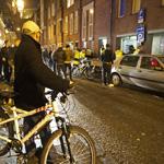 Wethouder Divendal opstap met de bike politie