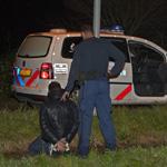 Drie mannen gearresteerd na wilde klopjacht in halfweg
