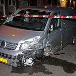 Automobilist richt ravage aan op Raamsingel in Haarlem