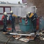 Brand in grofvuil container Dullaertstraat Haarlem