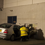 Auto ramt druk Blokker-filiaal winkelcentrum Schalkwijk Haarlem