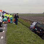 Zwaargewonde na auto te water op de Tweeduizend El in Badhoevedorp
