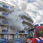 Veel rookontwikkeling bij brand in appartement Diakenhuisweg Haarlem