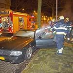 Brandstichting in personenwagen aan de Claes Tillyweg in Haarlem