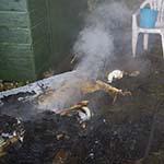 Man gewond door woningbrand in Santpoort-Zuid