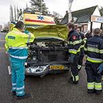 Ambulance betrokken bij verkeersongeval in Haarlem