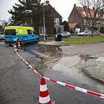 Groot lek in waterleiding Amperelaan in Haarlem