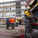 Binnenbrand in flatwoning aan het Europaplein in Heemskerk