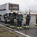 Brand in bus langs de A4 bij Hoofddorp