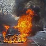 Auto in de brand gevlogen op de Rijksstraatweg in Haarlem