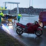 Motorrijder gewond bij ongeval op de Schipholweg in Haarlem