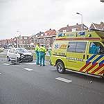 Automobiliste botst tegen ambulance in Heemstede