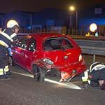 Twee gewonden bij bizar ongeval op de A200 bij Halfweg