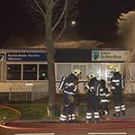 Zeer grote brand bij autoschadebedrijf aan de Berenkoog in Alkmaar