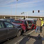 Kettingbotsing met vier auto's op het Rotterpolderplein