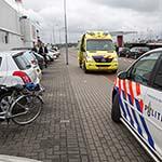 Man slaat met fiets over de kop op de Zwanenburgerdijk