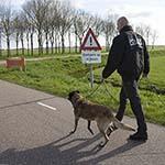 Politieonderzoek op de Broekpolderweg in Uitgeest