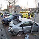 Ravage na eenzijdig ongeval op de Rijksstraatweg in Haarlem