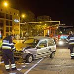 Automobilist knalt tegen R-Net bus op de Europaweg in Haarlem