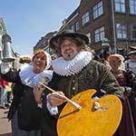 Frans Hals komt met schip aan in Haarlem