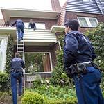 Politie onderzoekt woning aan de Iepenlaan in Bloemendaal op inbrekers