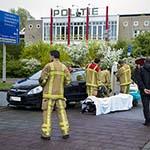Automobilist gewond na aanrijding op de Stationsweg in Velsen-Zuid