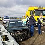 Man gewond na verkeersongeval op de A5 bij Boesingheliede