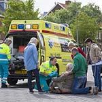 Oudere man gewond na valpartij op de Planetenlaan in Haarlem