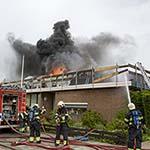 Zeer grote brand in kerk in Rijsenhout
