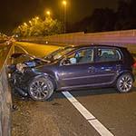 Man gewond bij verkeersongeval op de A9 bij Badhoevedorp