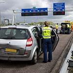 Rijbaan afgesloten na verkeersongeval op de A4 bij Hoofddorp