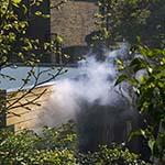 Brand in schuurtje aan de Bloemendaalseweg in Overveen