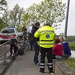 Vrouw gewond na botsing tussen fietsers op het Jan Gijzenpad