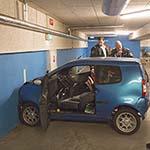 Vrouw gewond na botsing tegen muur parkeergarage Albert Heijn