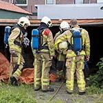 Brand in opslagplaats aan de Trompstraat in IJmuiden