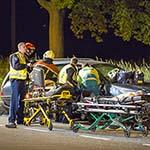 Vier gewonden bij zwaar ongeval op de Spoorsingel in Beverwijk