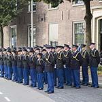 Erepeleton voor het politiebureau aan de Koudehorn in Haarlem