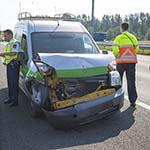 Man gewond bij verkeersongeval op de A9 bij Velsen-Zuid