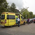 Jongen gewond na val met scooter op de Westbroekerweg