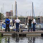 Stoffelijk overschot in Spaarne in Haarlem