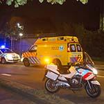 Fietsster aangereden door taxi op het Staten Bolwerk in Haarlem