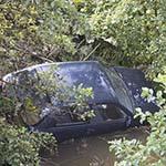 Weer auto te water bij de Hoeksteen in Hoofddorp