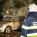 Auto uitgebrand aan de Kopenhagenstraat in Schalkwijk