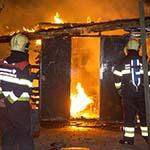Gebouw van speeltuinvereniging Burcht ter Cleeff in vlammen opgegaan