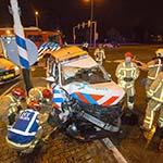Politieagenten gewond bij verkeersongeval in Velsen-Zuid